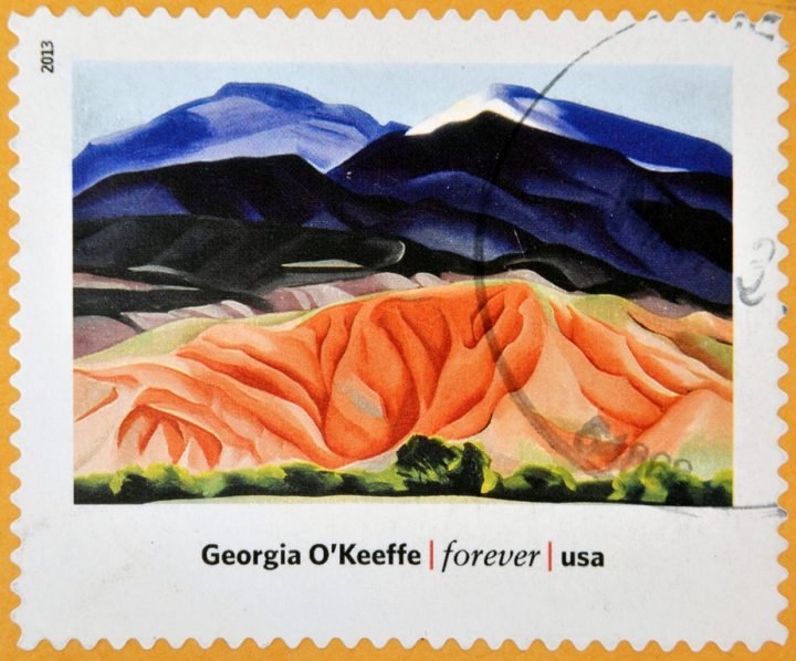 2013 A stamp printed of Black Mesa Landscape, New Mexico by Georgia O'Keeffe
